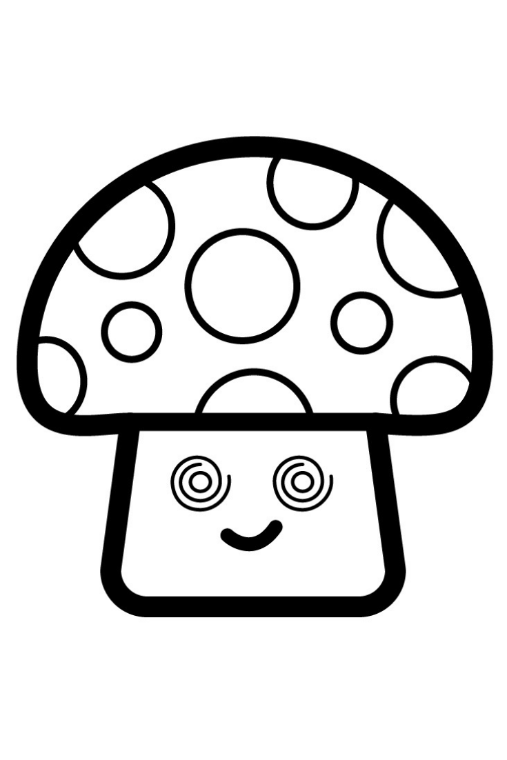 Coloring Mushroom With Glitter Mushroom Coloring Pages For Kids Drawing Of Mushroom Easy Coloring Pages Drawing For Kids Coloring Pages