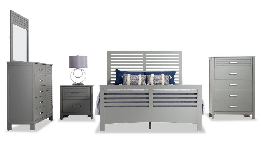 Dalton Bedroom Set Bobs Grey