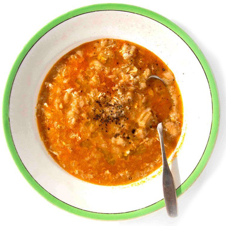 Sopa de Ajo for fever/colds (Castilian/Mexican garlic soup w/ paprika, eggs, etc.)