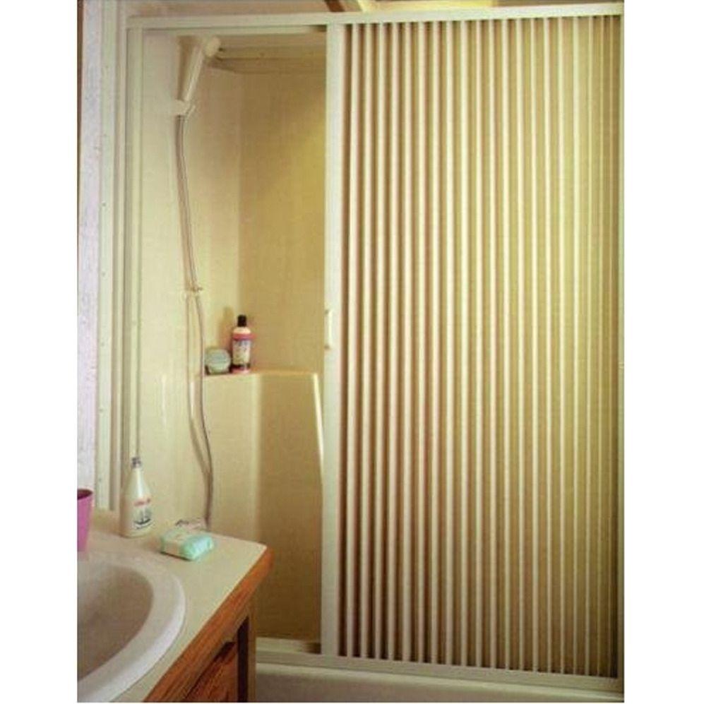 Irvine si ivory pleated shower door sourceabl