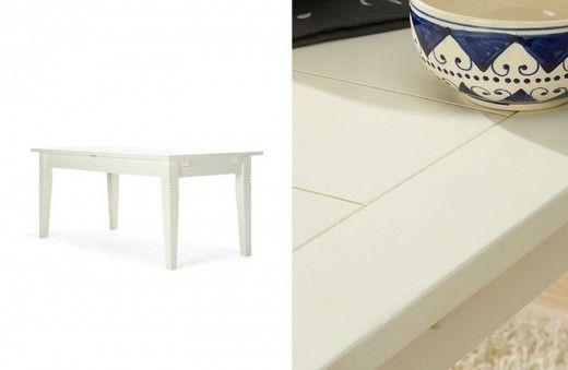 Esstisch 150x90 Capri Pinie Cremeweiß Massiv Holz Moebel Speise Tisch  Esszimmer