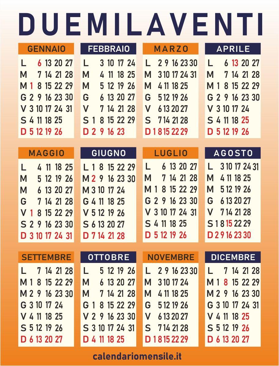 Calendario Mese Aprile 2020.Calendario 2020 Calendario 2020 Calendario Marzo E Febbraio