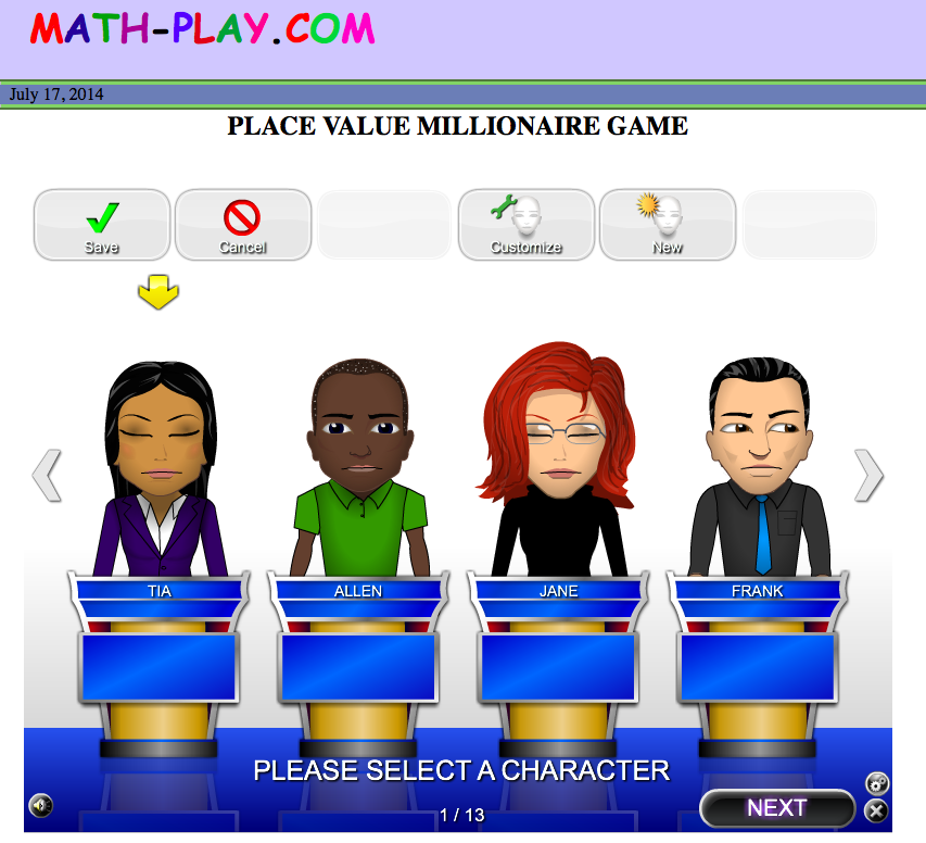 Place Value Millionaire Game We Use Math Play In My Room All The Time And I Never Knew This Game Was On The Site