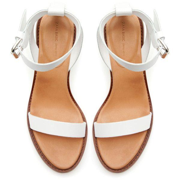 Zara Block Sandal With Ankle Strap (295