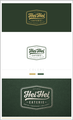 Hei Hei eaterie logo design for a trendy Chines... Conservative, Elegant Logo Design by Raicho