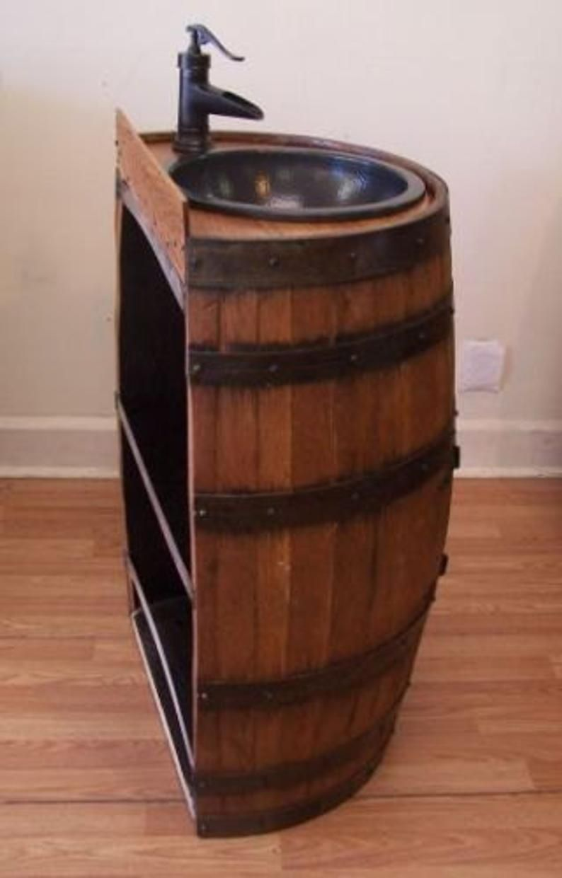 26++ Whiskey barrel bathroom vanity inspiration