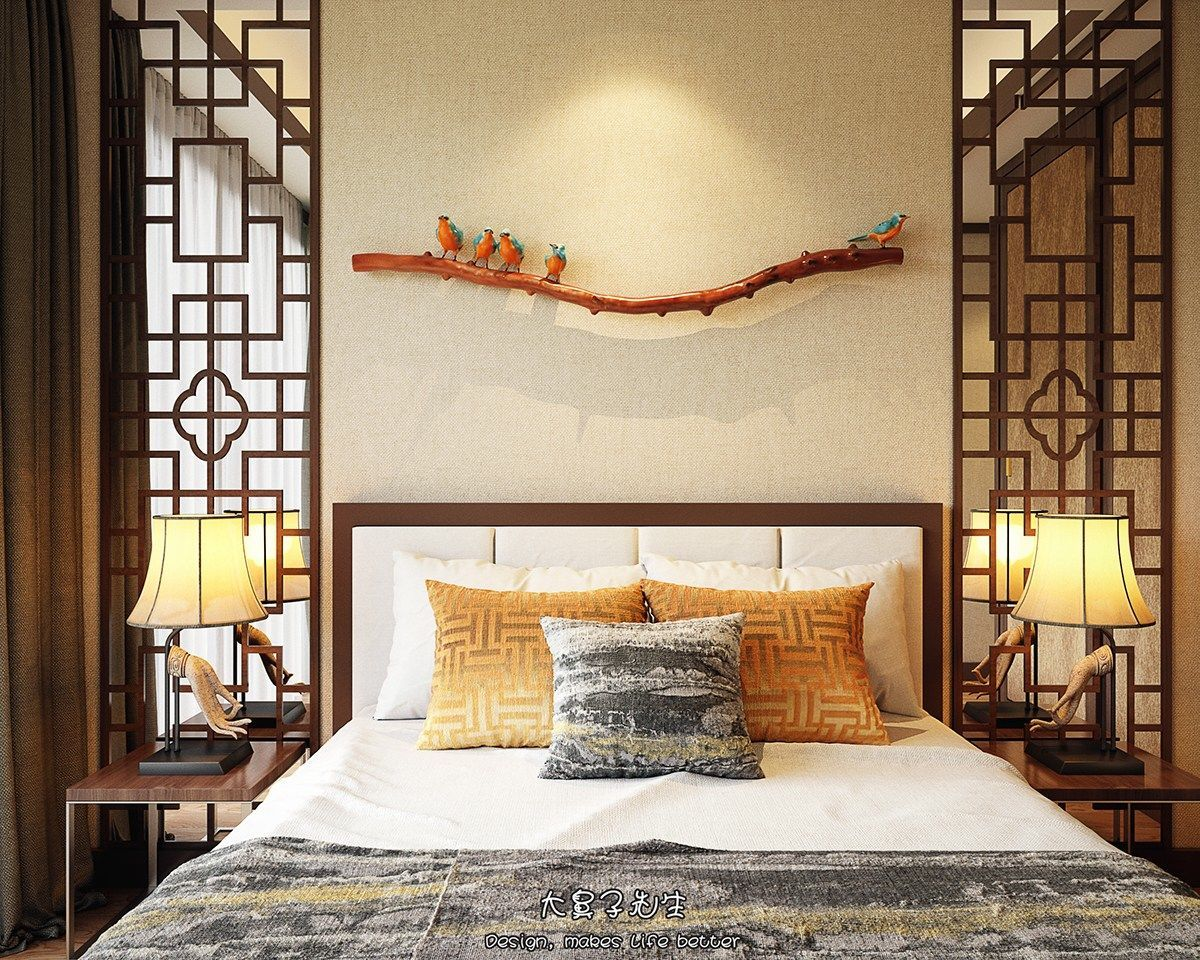 Two modern interiors inspired by traditional chinese decor for Dormitorios orientales