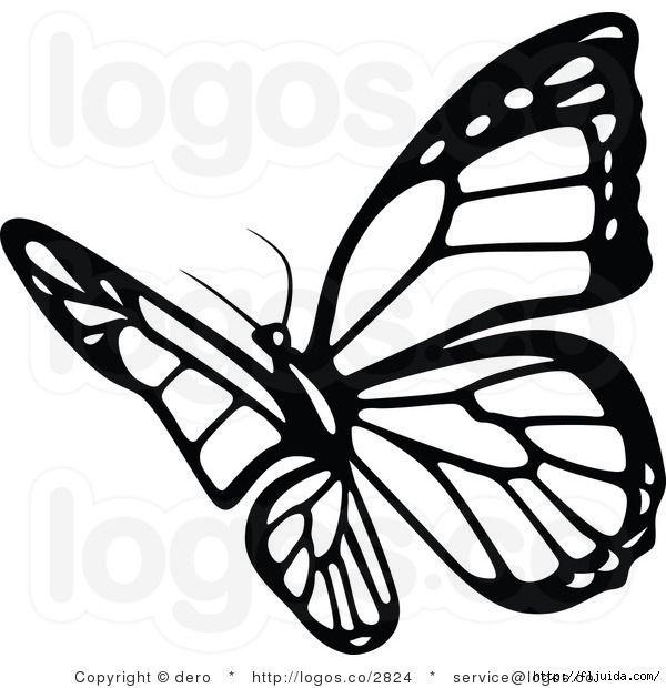 328Трафарет бабочки на стену распечатать