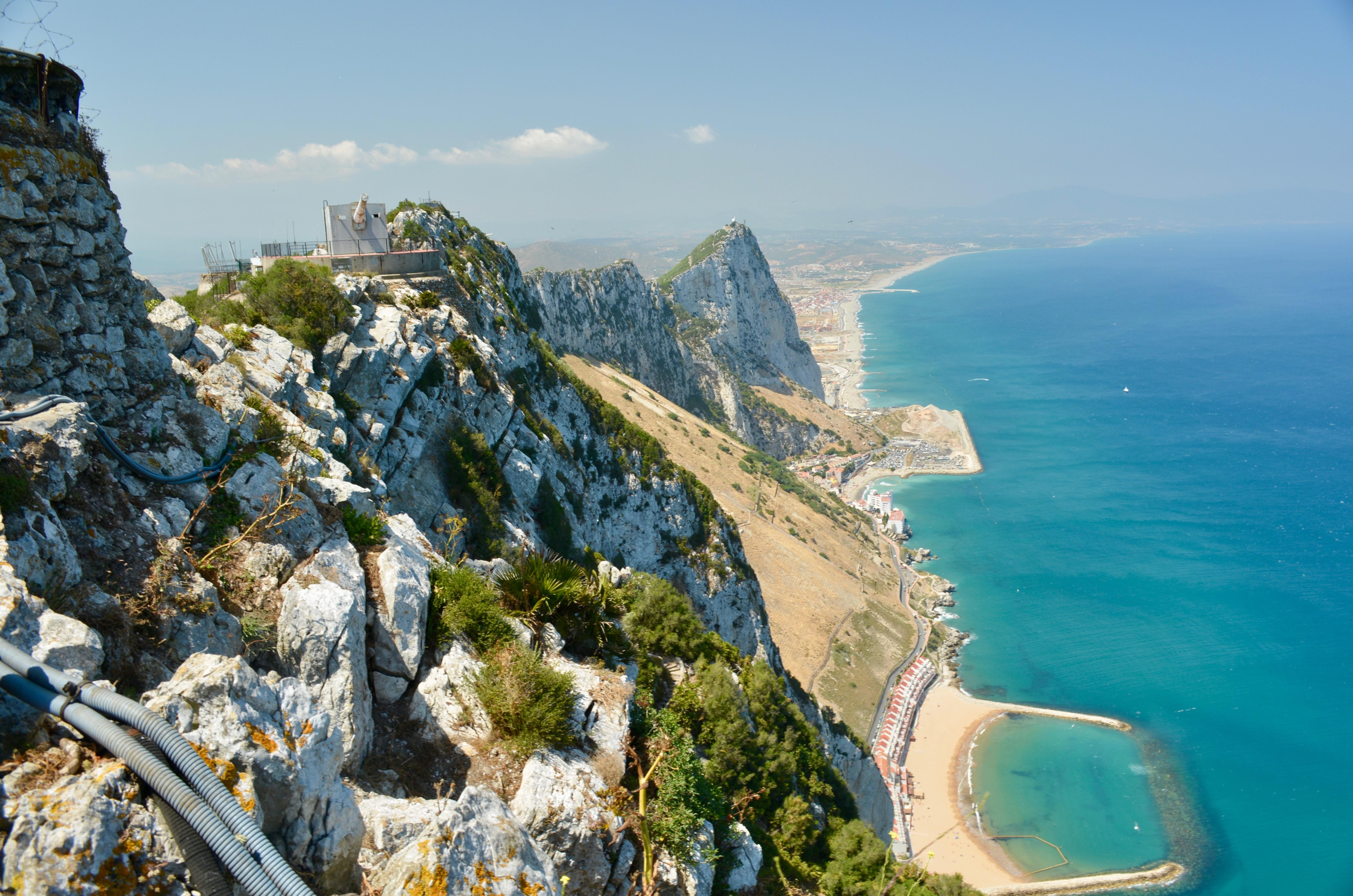 Gibraltar Amp Spanish Mediterranean Coast From O Hara S Battery Looking North Click On The Photo To Discov Mediterranean Travel Mediterranean Coast Travel
