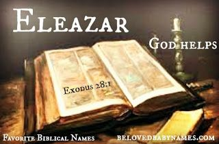 Eleazar has a strong sound and a great meaning! | Biblical