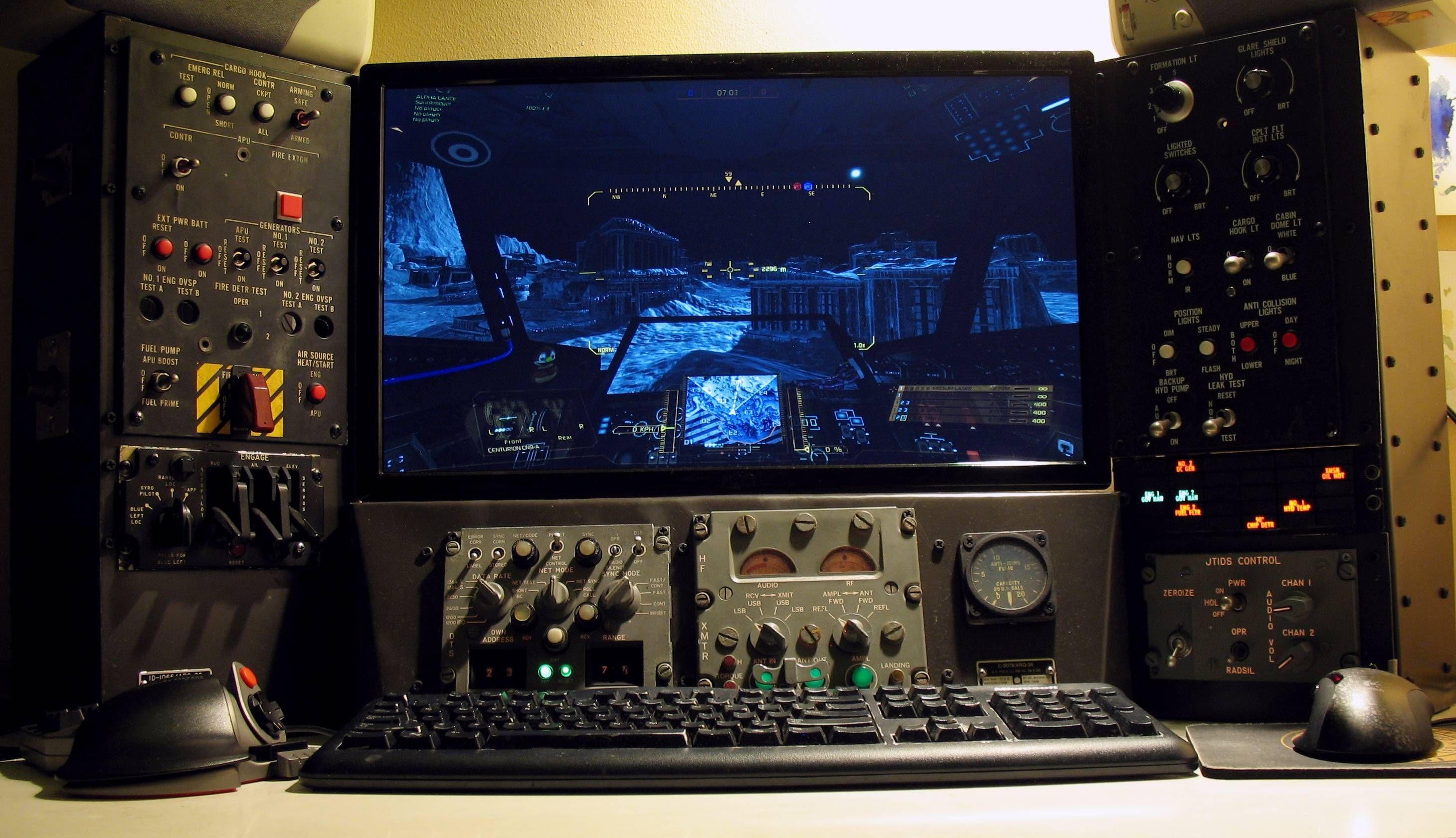 Desktop Mechwarrior Cockpit - PC Gaming Battle Station via