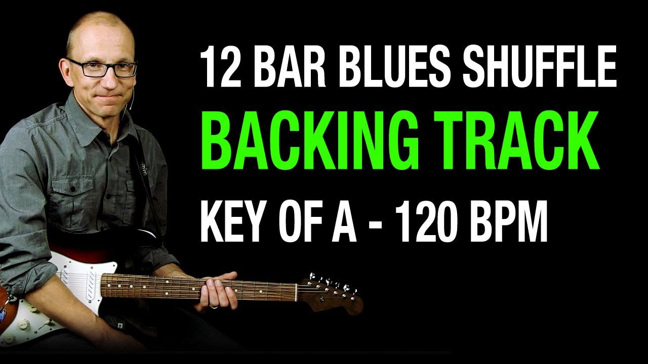 Blues Backing Track, Key of A - 120 BPM Organ Shuffle   JamTrax