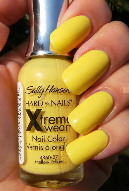 Sally Hansen Xtreme Wear Mellow Yellow Nail Polish Color