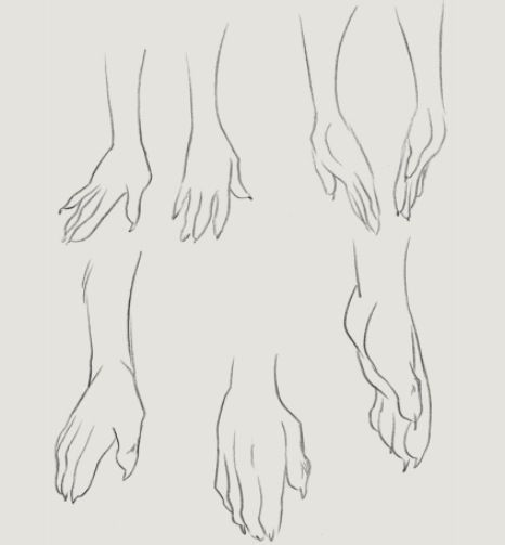 More Human Like Furry Hand Tutorial Furry Anthro Tutorials In 2019