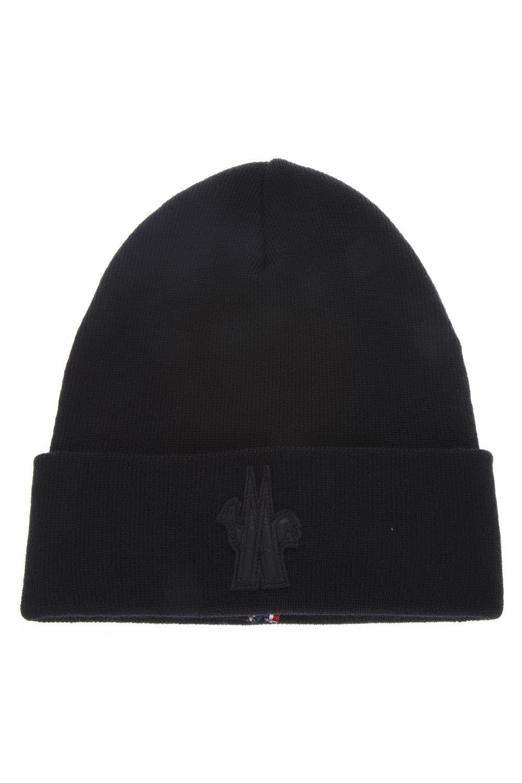 91b4391f06ddb MONCLER GENIUS GRENOBLE BLACK WOOL HAT.  monclergenius