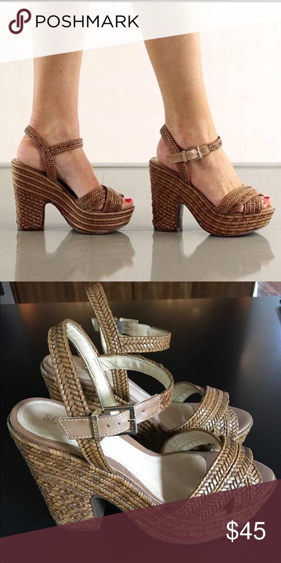 46b345f270e Schutz Aileen wedges espadrilles  platform sandals Nearly new wedges by  Schutz