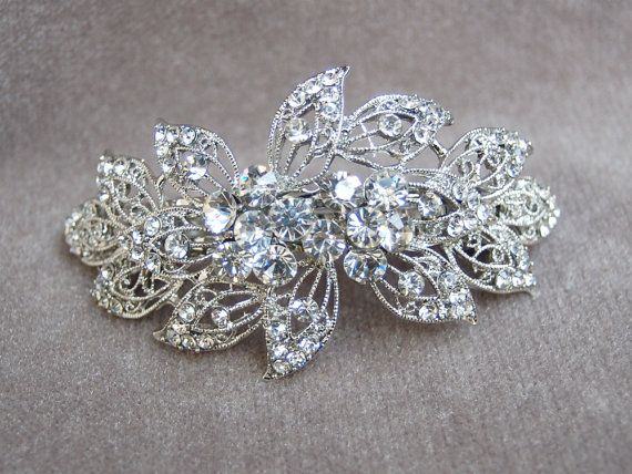 rhinestone hair clip fancy rhinestone bridal hair by lyndahats 20 00