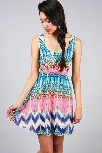 'Flash Funk Dress' - PinkIce.com #funkydresses #dresses #cocktaildresses #cutedresses #partydresses #springdresses #springfashion #spring #summerstyles #springstyles #chiffondresses #coolpatterns