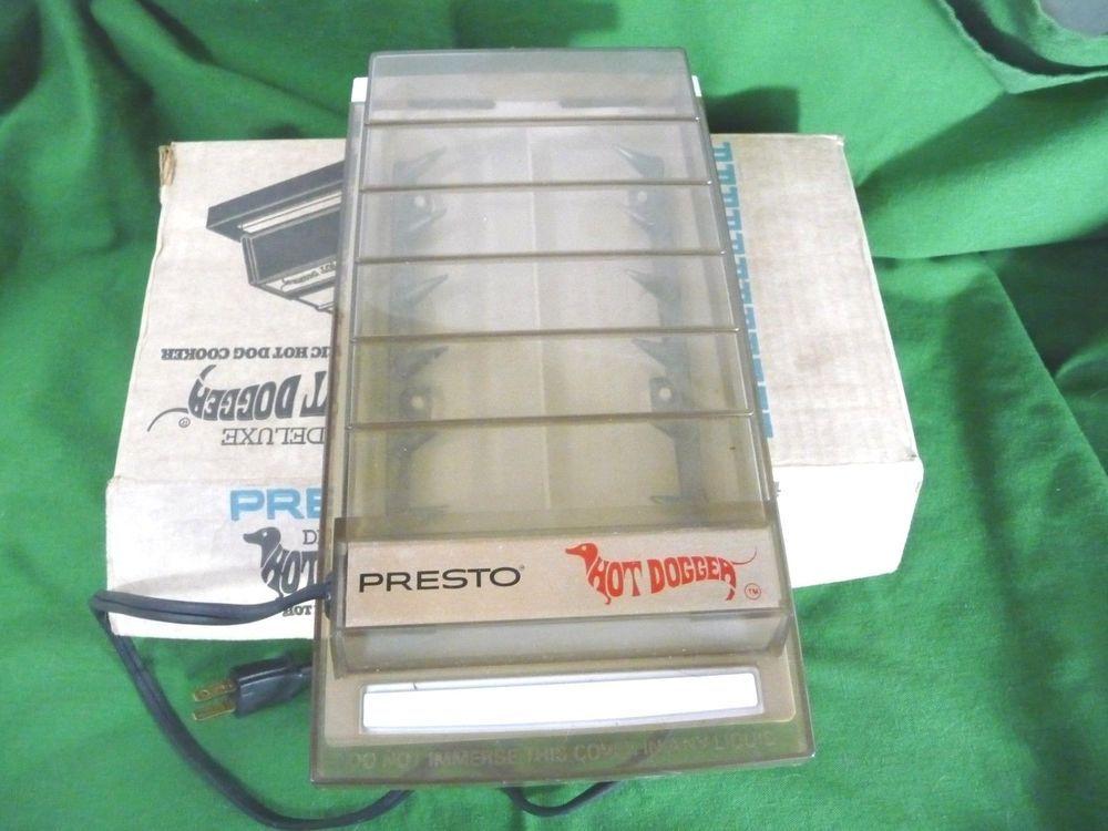 Vintage Presto Hot Dogger Hot Dog Cooker Ld04 Electric Original Box Tested Box Test Vintage Original Box