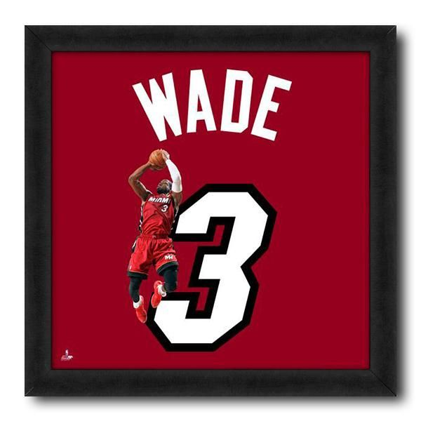 7baee6528 Dwyane Wade Miami Heat Spotlight Dunk NBA Licensed Print