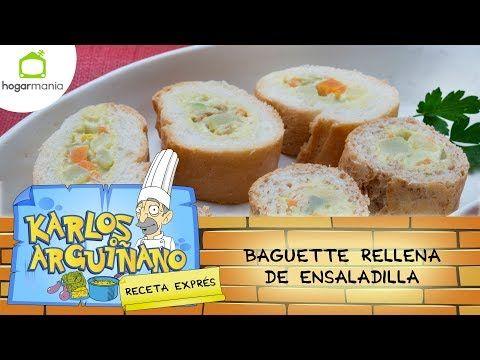 Youtube Baguette Relleno Recetas De Comida Baguettes Recetas