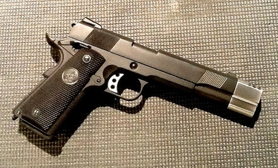 The Punisher Custom Colt M1911A1 With Custom Compensator New