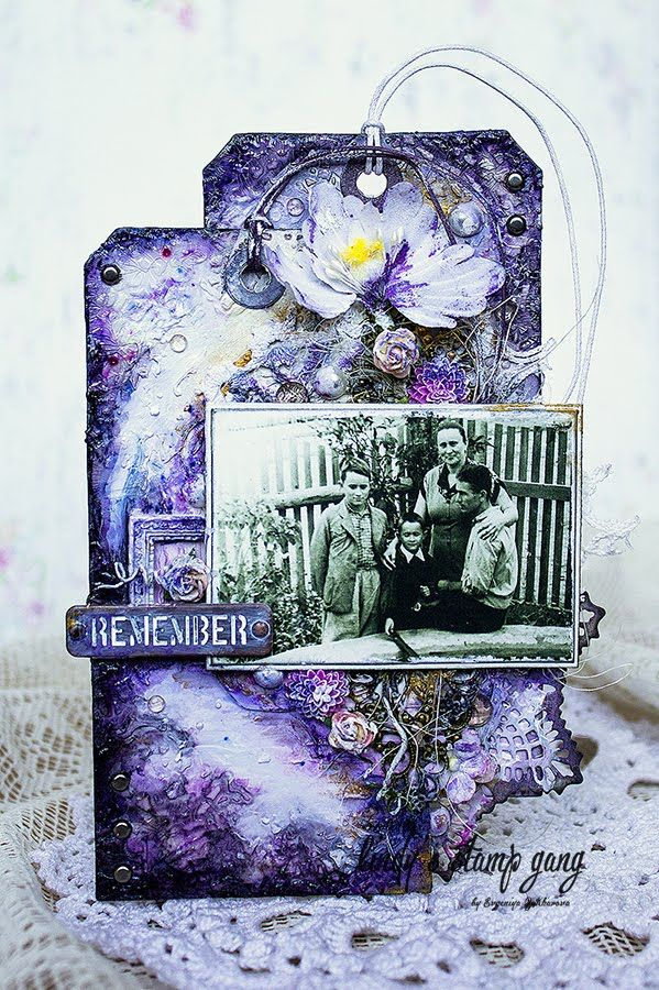 Lindy's Stamp Gang Photo Frame Video Tutorial