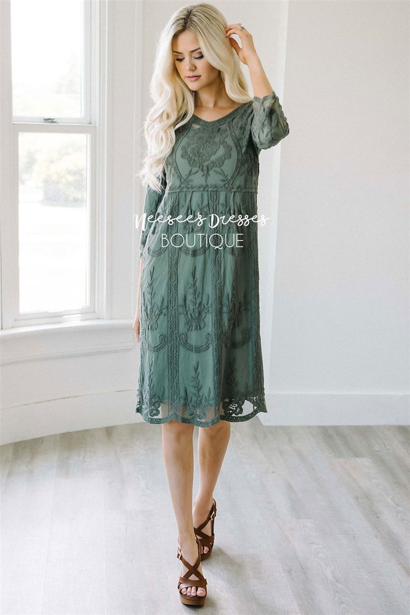 75e09b8e0373 Image result for neesee dusty sage lace daydreamer dress | All ...