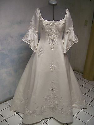ALFRED ANGELO couture DELUXE embroidered WEDDING DRESS sz 12