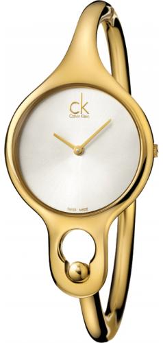 47317a6bc07 Women s Calvin Klein ck Gold-Tone Air Bangle Steel Watch K1N23526