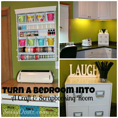 Transforming a Bedroom into a Craft and Scrapbooking Room on a Budget (Organization and Storage Ideas)