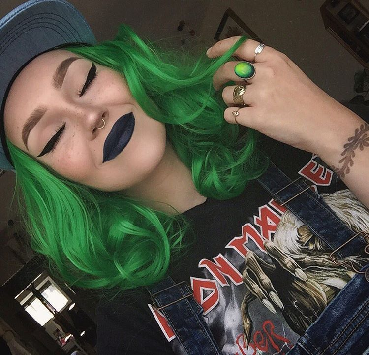 Pin by Mallory Brown on Magical Hair Colors Green hair