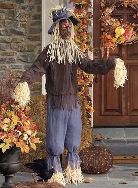 Place The Scarecrow Figure On Your Porch To Spook Trick Or