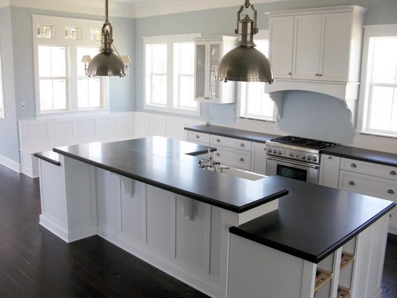 Attractive Kitchen Color Schemes with White Cabinets | Furniture ...
