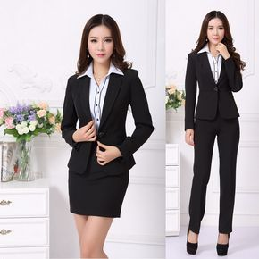 Cheap Formal OL trajes de falda para mujer para mujeres Work Wear conjunto  Blazer Ladies Professional 7cb2d80dbdaf