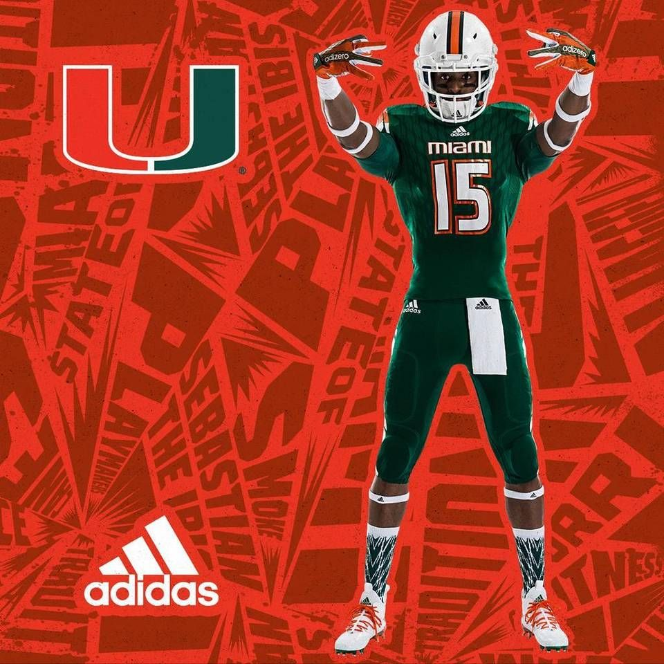 Miami Hurricanes Unveil New Look Uniforms From Adidas Hurricanes Football Miami Hurricanes Football Uniforms