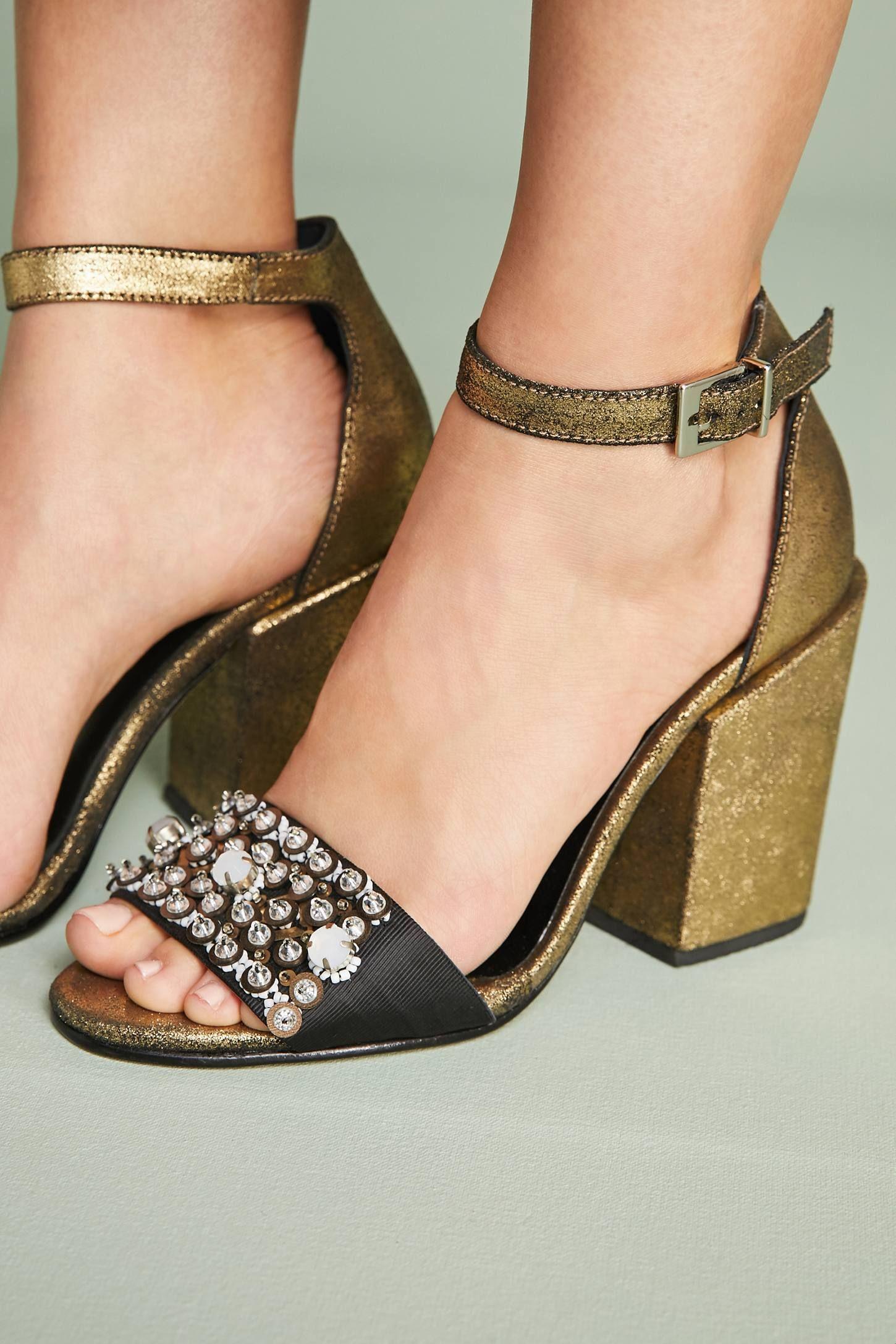 Rachel ey Beaded Coppa Heels