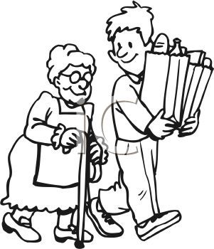 11+ Helping others clipart black and white information