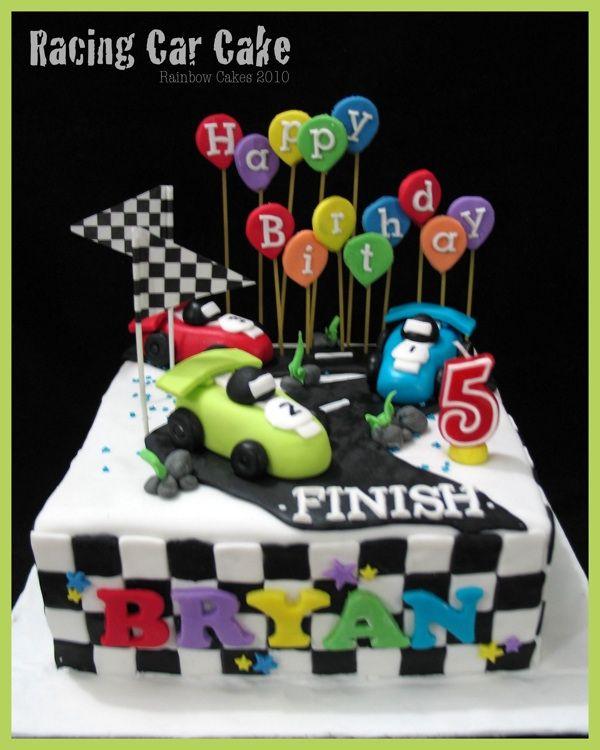 Race Car Birthday Cake Http//wwwmy Rainbowcakescom/2010/10/racing  cakepins.com