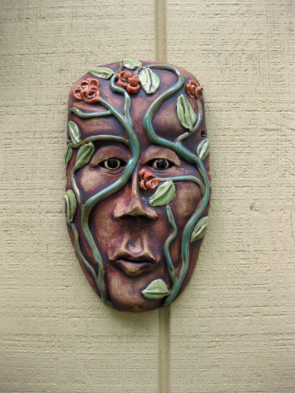 mother natures sister ceramic mask | ceramic masks | pinterest
