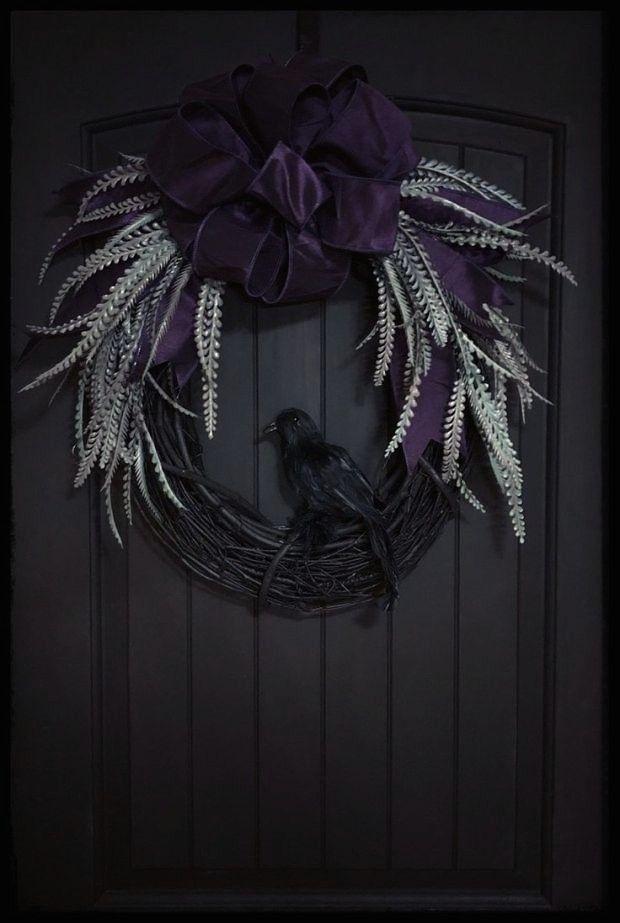 Photo of #dehalloween #halloween #wreaths #gothic #wreath #porch