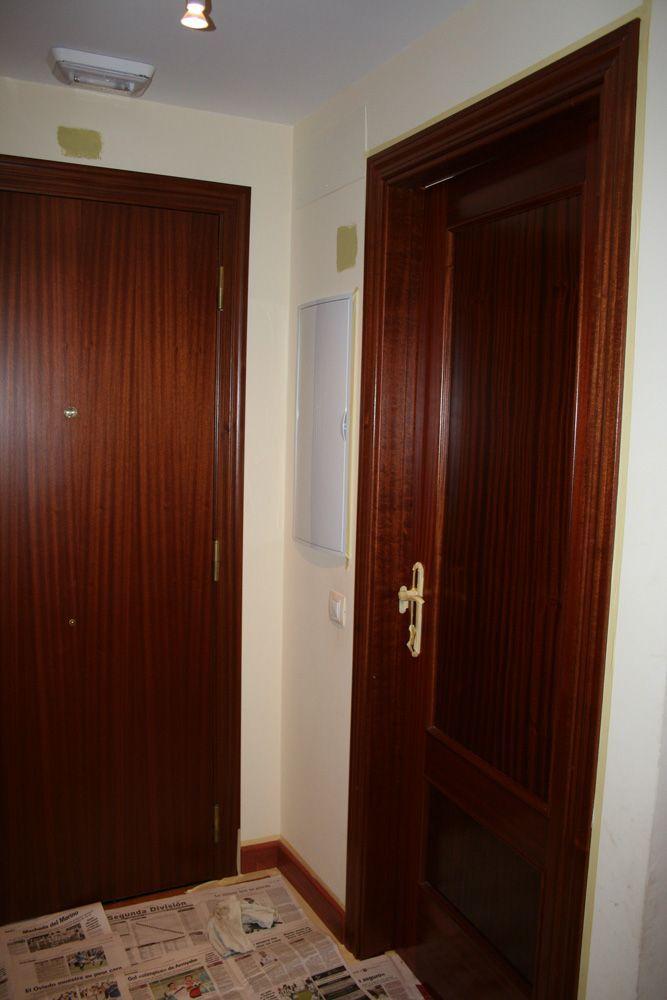 Lacando puertas en blanco · White laquered doors | Pinterest ...