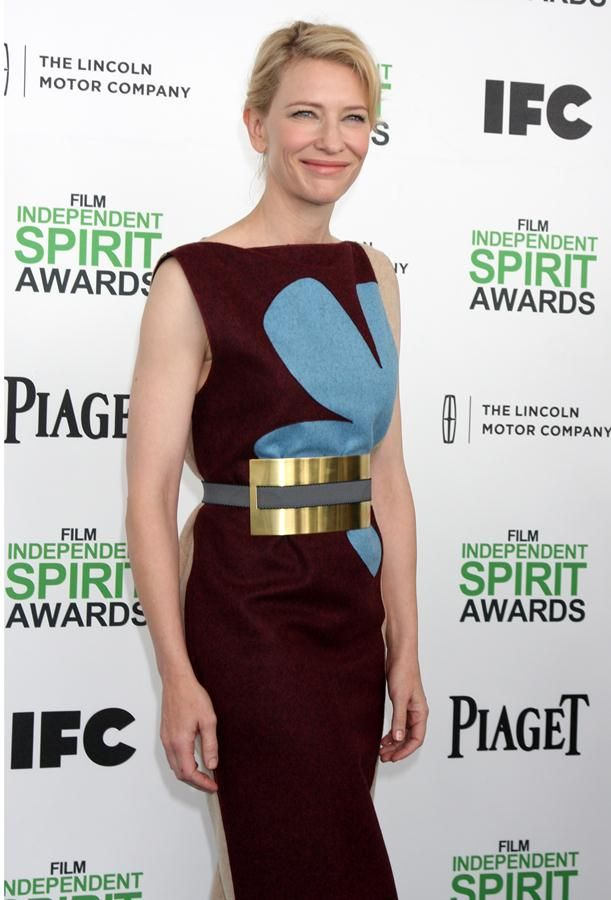 Cate Blanchett, looking regal in a Roksanda Ilincic dress at the 2014 Film Independent Spirit Awards | Trend 911