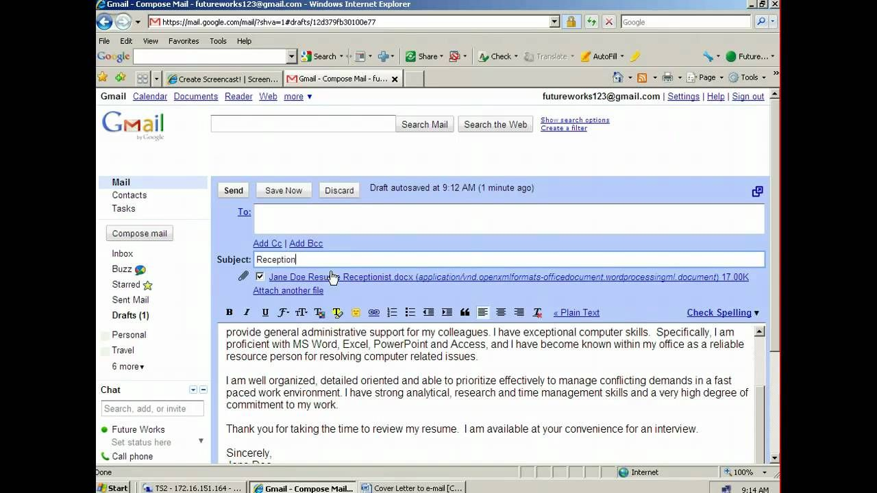 How to attach and email a resume youtube wonderful how