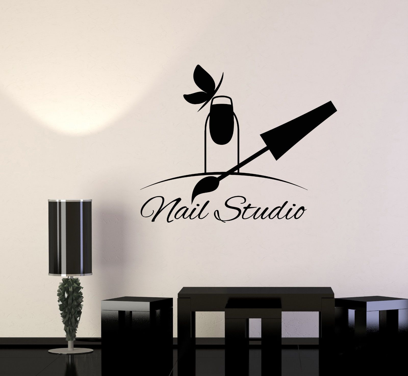Details about Vinyl Wall Decal Nail Studio Manicure Beauty