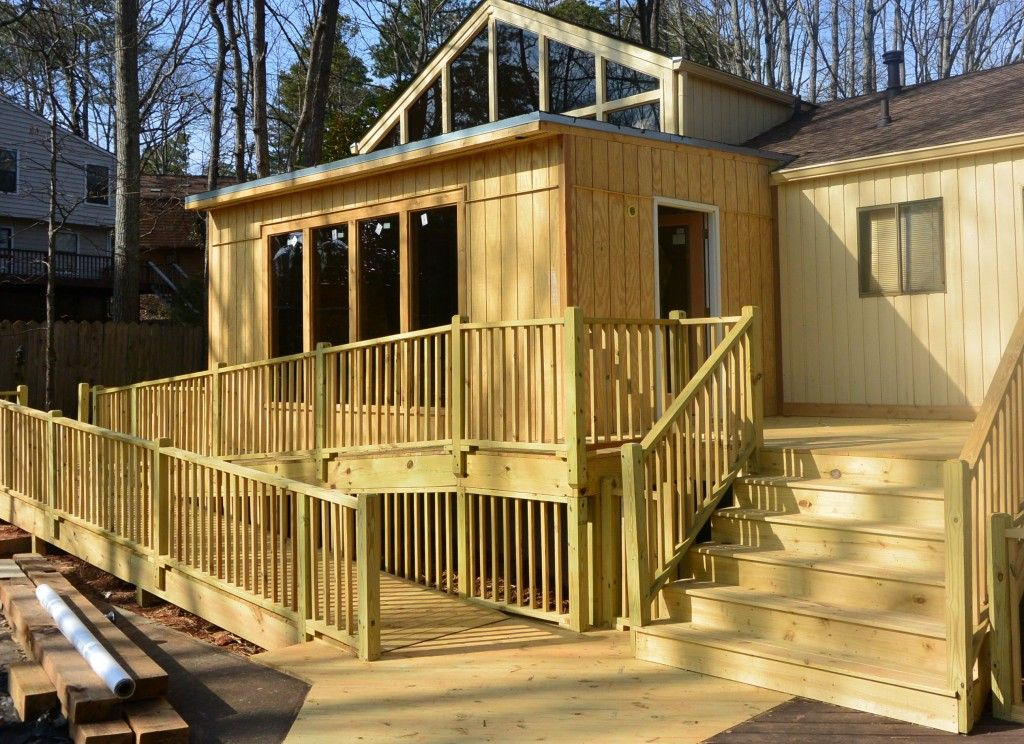 Deck with ramp deck pinterest decking and house for Ada mobile homes