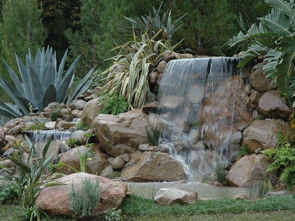 backyard hillside landscaping waterfall and pond with gazebo | ... drill residential landscaping backyard completing my backyard still