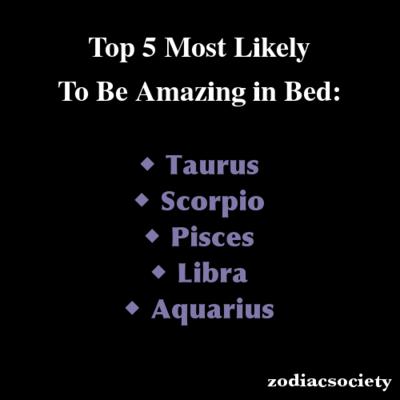 zodiac in bed