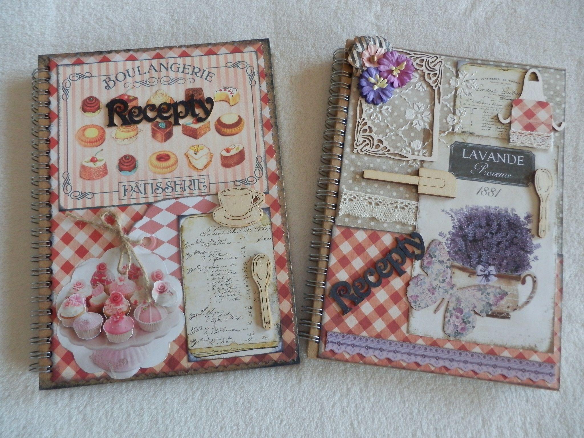 Denníky,kuchárské knihy