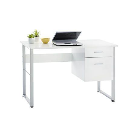 Brenton Studio Halton Desk White | bedrooms | Pinterest | Office ...